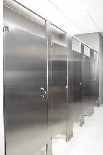 Commercial bathroom partition walls