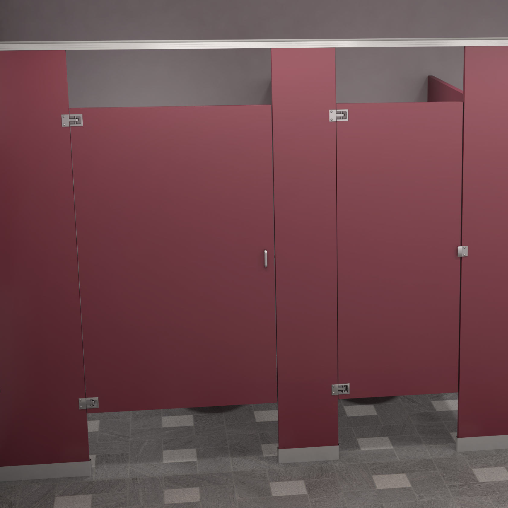 Privacy Compartment Materials For Public Restrooms