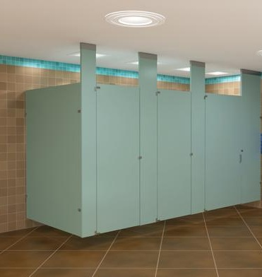 Bathroom Partition these corrosion resistant partitions are corrosion resistant and scratches can be removed with buffing Ceiling Hung Toilet Partitions