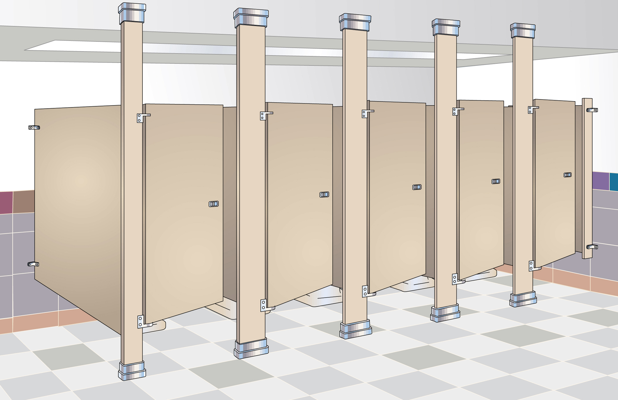 Whats Best Material For Restroom Dividers For Toilet Facilities - Ada bathroom partitions