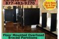 Floor Mounted Overhead Braced – Bathroom Partitions