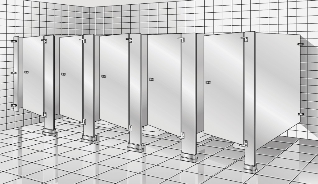 Floor Braced Toilet Partitions Restroom Partitions