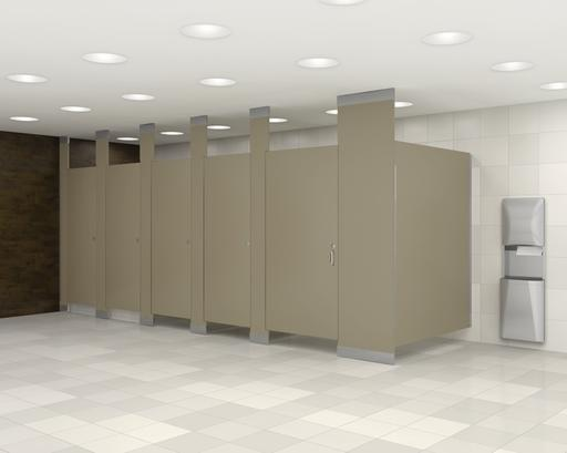 Floor to ceiling braced commercial bathroom partitions for Bathroom partitions