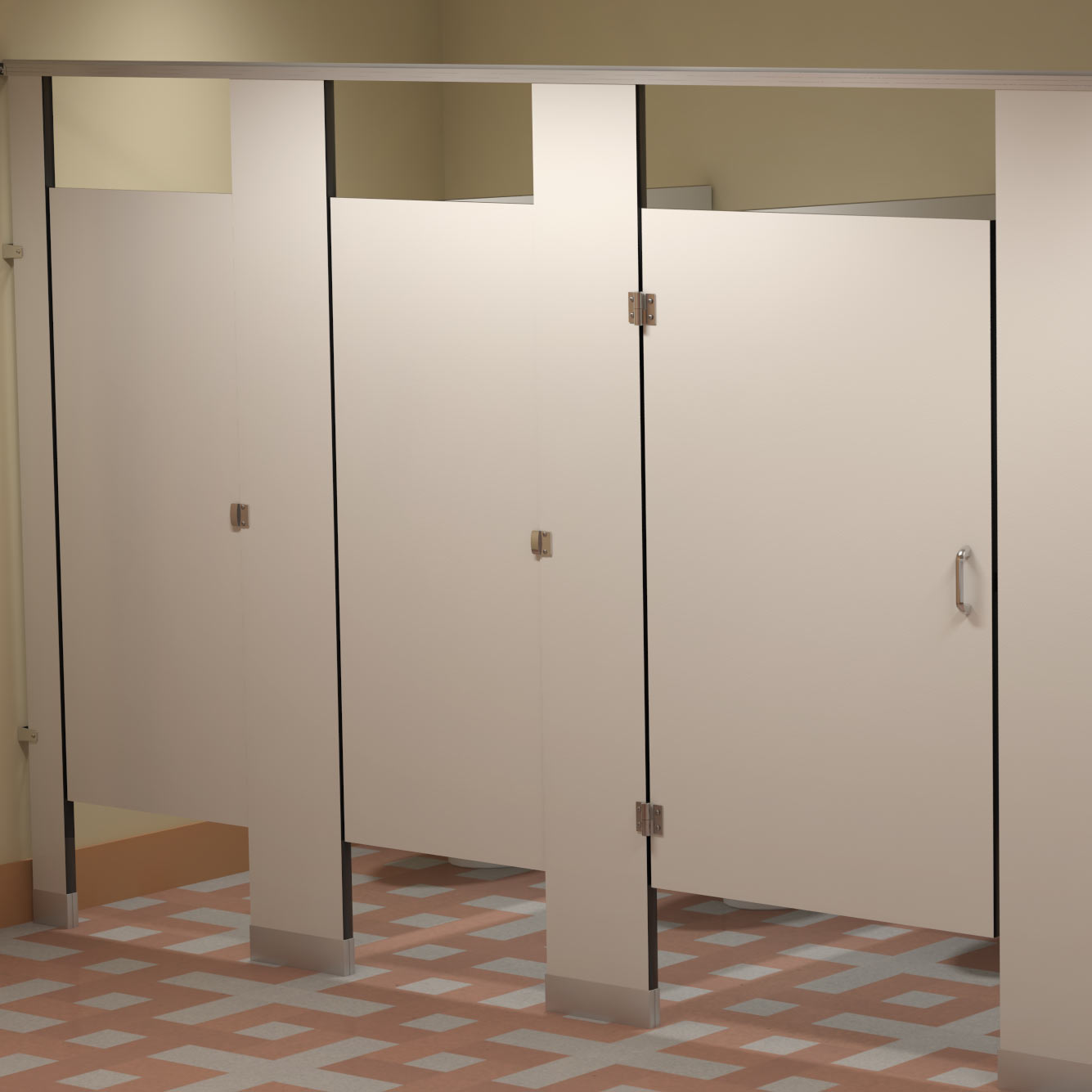 Custom Layout Design For Commercial Restroom Dividers - Custom bathroom partitions