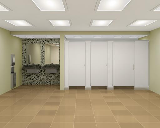 Floor to ceiling braced commercial bathroom partitions for European bathroom stalls