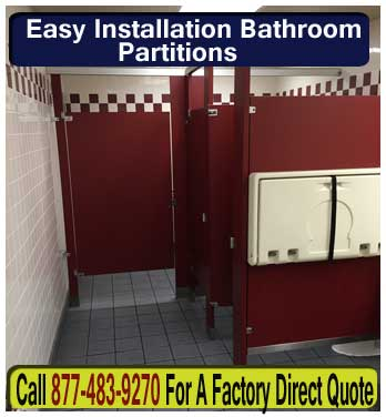 Easy Installation Commercial Bathroom Partitions