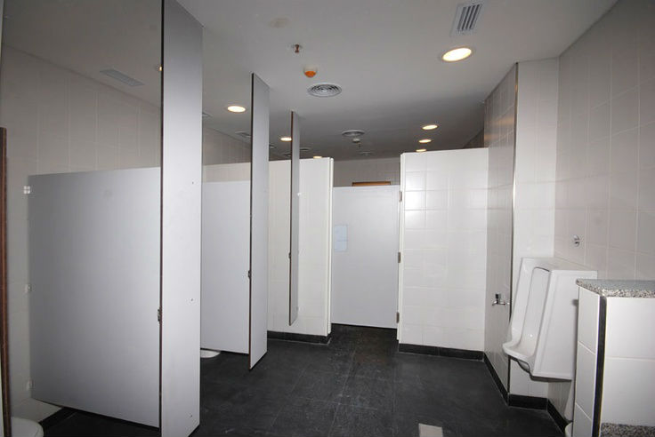 Custom Designed Ceiling Hung Restroom Partitions For Sale - Custom bathroom partitions