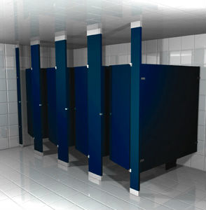 Quick Ship Toilet Partitions For Industrial Restrooms - Commercial bathroom stall dividers
