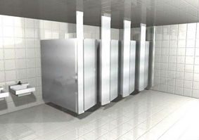 Stainless steel restroom partitions a shoppers guide for Stainless steel bathroom partitions