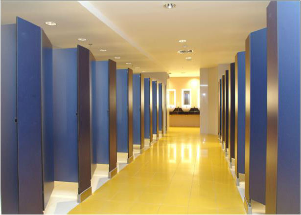 Bathroom Partitions Materials plastic laminated & solid plastic toilet partitions buyers guide |