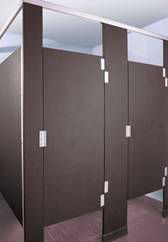What shower partition dividers offer the most privacy for Which bathroom stall is used most often