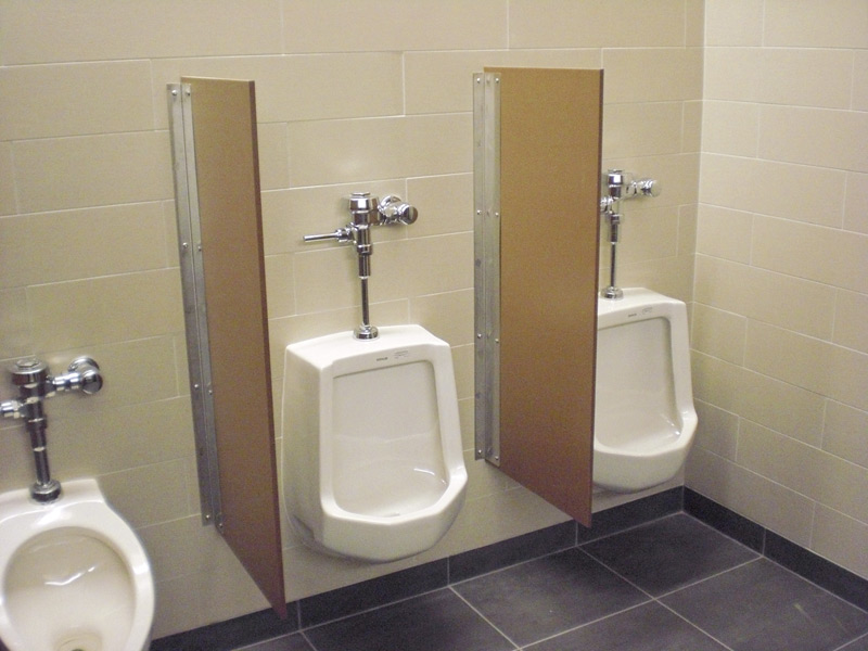 Need more privacy in the men 39 s restroom or locker room - How to install bathroom partitions ...