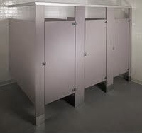 Phenolic Core Floor Mounted Overhead Braced Bathroom Partitions