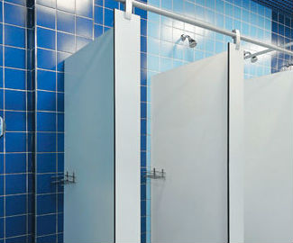 Designing Cubicle Mounted Commercial Bathroom Shower Area