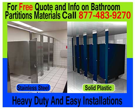 Bathroom Partitions Prices what are the types of restroom toilet partition materials |
