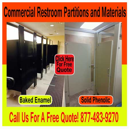 Commercial Restroom Partitions and Materials