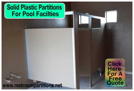 Solid Plastic Partitions For Pulte Homes Pool Center