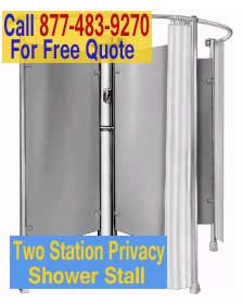 Discount 2 Station Circular Privacy Shower Stalls For Sale Cheap