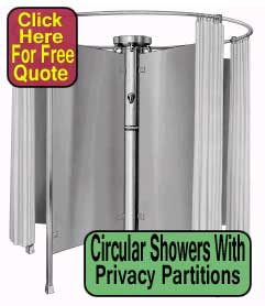 Wholesale Circular Showers with Privacy Partitions For Sale