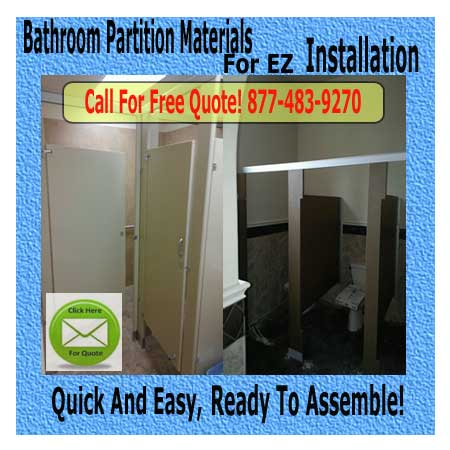DIY Bathroom Partition Kit For Sale Cheap Discount Pricing
