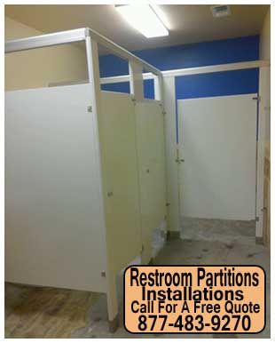 Commercial Restroom Partition Installation Repair