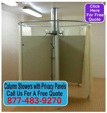 Circular Bathroom Showers With Privacy Partition For Sale