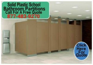 DIY Solid Plastic School Bathroom Partitions Kit For Sale