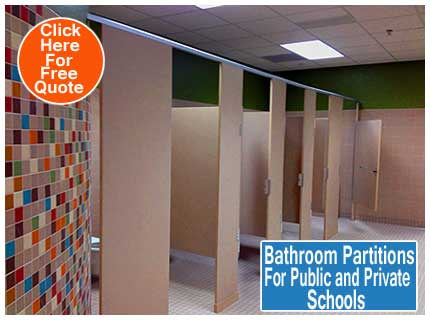 Restroom Partitions For Public And Private Schools For Sale, Design, Repair & Installation Services