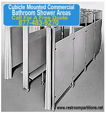 Cubicle Mounted Commercial Bathroom Shower Areas. Sales, Installation & Repair