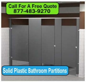 Solid Plastic Bathroom Partitions For High Traffic Areas On Sale Now! Factory Direct Wholesale Prices