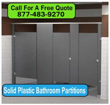 Solid Plastic Bathroom Toilet Partitions Installation - Pvc bathroom partitions