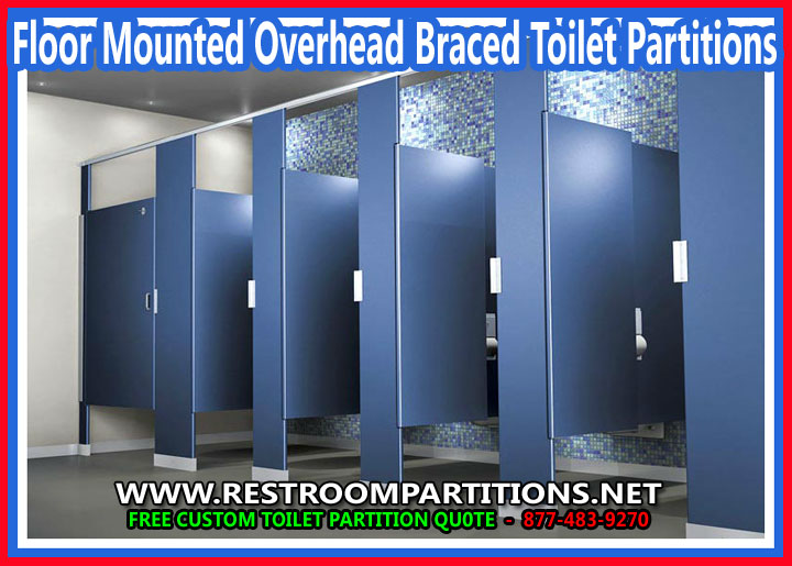 Floor Mounted Overhead Braced Toilet Partitions For Sale At Cheap Discount Prices