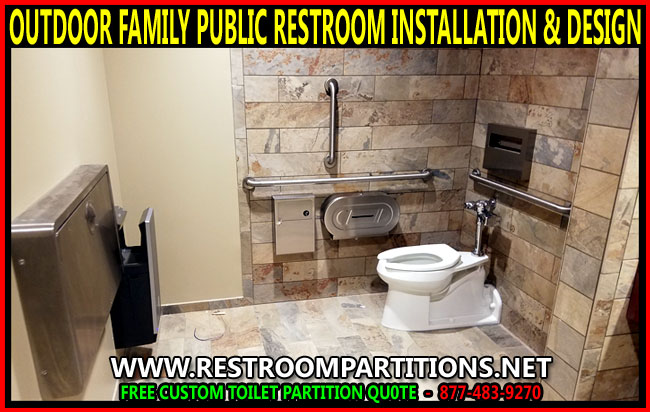 Outdoor Mall Family Public Restroom Installation Design Services