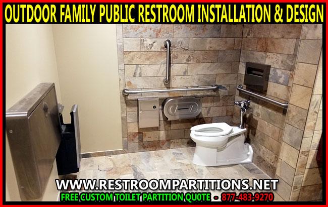 Outdoor Family Public Restroom Installation Design DIY Kit