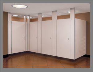 Ceiling Braced Restroom Dividers