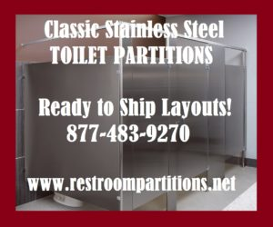 Stainless Steel FMOB Toilet Partitions