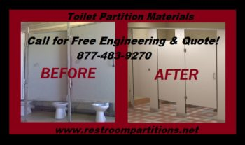 Plastic Laminated FMOB Toilet Partitions for Restroom Construction