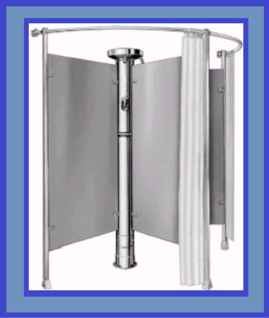 Commercial Column Shower with Privacy Assembly