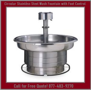 Circular Stainless Steel Wash Fountain